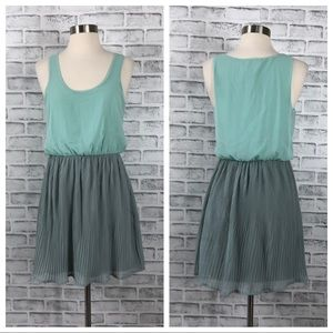 Pins and Needles Turquoise and Gray A Line Dress